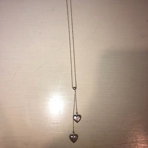 Tiffany solid heart lariat necklace